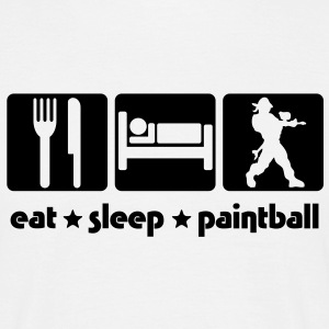EAT SLEEP PAINTBALL - Men's T-Shirt