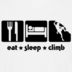 EAT SLEEP CLIMB - Men's T-Shirt
