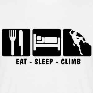 EAT SLEEP CLIMB 3 - Men's T-Shirt