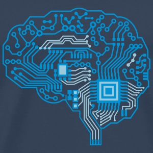 Android brain pcb T-Shirts - Men's Premium T-Shirt