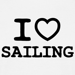 I LOVE SAILING - OUTLINE HEART - Men's T-Shirt