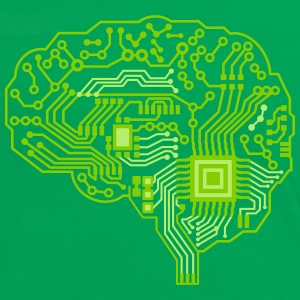 Android brain pcb T-Shirts - Women's Ringer T-Shirt
