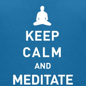 Keep calm and meditate - Frauen T-Shirt mit V-Ausschnitt