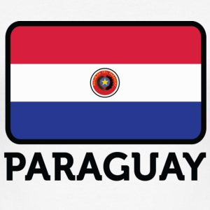 National Flag of Paraguay T-skjorter - Slim Fit T-skjorte for menn