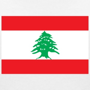 National Flag of Lebanon T-skjorter - T-skjorte med V-utsnitt for kvinner