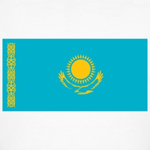 National Flag of Kazakhstan T-skjorter - Økologisk T-skjorte for menn