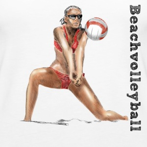 beachvolleyball Topper - Premium singlet for kvinner