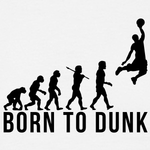 basketball evolution born to dunk - Men's T-Shirt