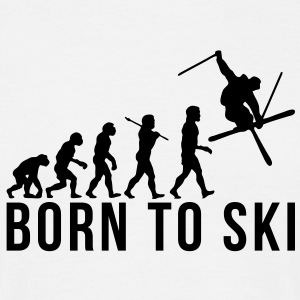 freestyle skier evolution born to ski - Men's T-Shirt