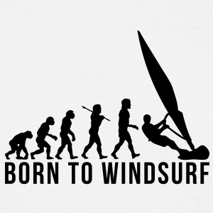 windsurfing evolution born to windsurf - Men's T-Shirt