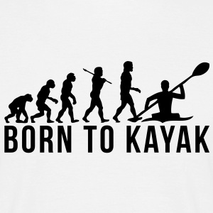 kayaking evolution born to kayak - Men's T-Shirt