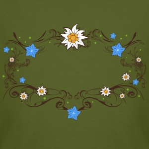 An Edelweiss and gentian frame T-Shirts - Men's Organic T-shirt
