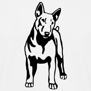 dog   bull terrier - Men's T-Shirt