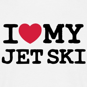 i love my jet ski 2 col - Men's T-Shirt
