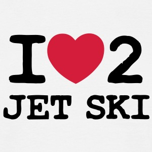 i love 2 jet ski 2 col - Men's T-Shirt