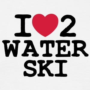 i love 2 water ski - Men's T-Shirt