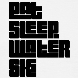 eat sleep water ski text - Men's T-Shirt