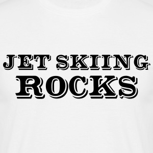 jet skiing rocks - Men's T-Shirt