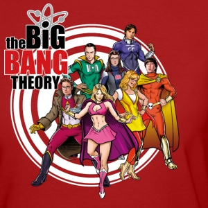 The Big Bang Theory Bazinga Comic Group Femme Tee  - T-shirt Bio Femme