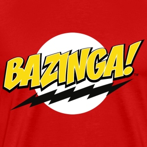 The Big Bang Theory Bazinga! Herre T-Shirt - Premium T-skjorte for menn