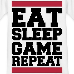 eat sleep game repeat T-Shirts - Teenager T-Shirt