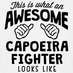 awesome capoeira fighter looks like - Men's T-Shirt