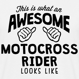 awesome motocross rider looks like - Men's T-Shirt