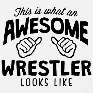 awesome wrestler looks like - Men's T-Shirt