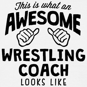 awesome wrestling coach looks like - Men's T-Shirt
