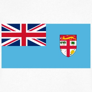 National Flag of Fiji T-skjorter - T-skjorte med V-utsnitt for menn