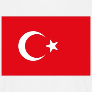 National Flag of Turkey T-skjorter - T-skjorte for menn