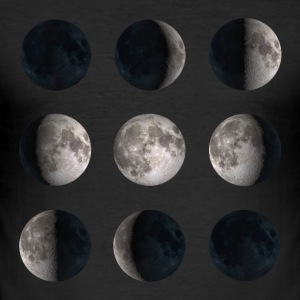 Mondphasen Moon Phases T-Shirts - Männer Slim Fit T-Shirt