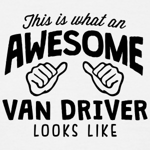 awesome van driver looks like - Men's T-Shirt