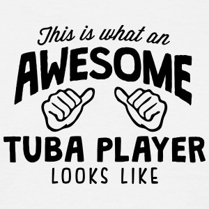 awesome tuba player looks like - Men's T-Shirt