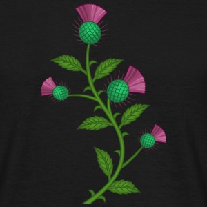 Scottish Thistle flower - T-skjorte for menn