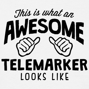 awesome telemarker looks like - Men's T-Shirt