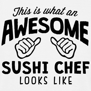 awesome sushi chef looks like - Men's T-Shirt