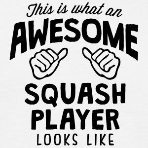 awesome squash player looks like - Men's T-Shirt