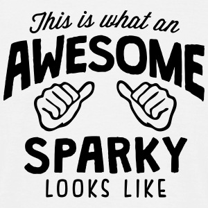 awesome sparky looks like - Men's T-Shirt