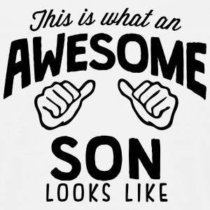 awesome son looks like - Men's T-Shirt