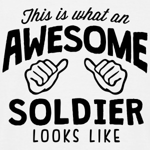 awesome soldier looks like - Men's T-Shirt