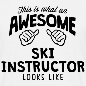 awesome ski instructor looks like - Men's T-Shirt