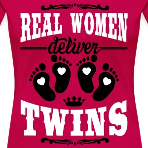 Real Women deliver Twins T-Shirts - Frauen Premium T-Shirt