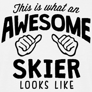 awesome skier looks like - Men's T-Shirt
