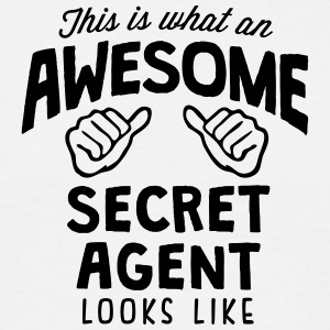 awesome secret agent looks like - Men's T-Shirt