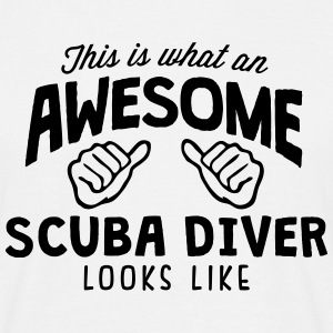awesome scuba diver looks like - Men's T-Shirt