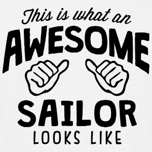 awesome sailor looks like - Men's T-Shirt