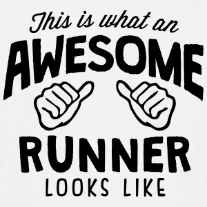 awesome runner looks like - Men's T-Shirt