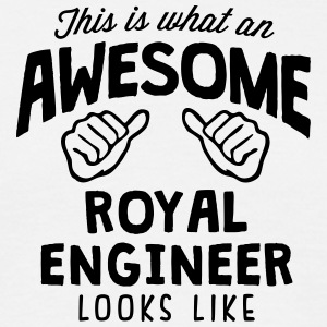 awesome royal engineer looks like - Men's T-Shirt