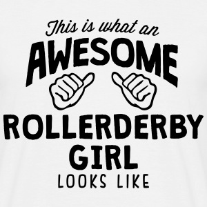 awesome roller derby girl looks like - Men's T-Shirt